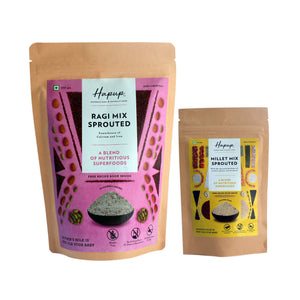 Hapup (250gm Sprouted Ragi + 80gm Sproued Nutri) - Super Combo Pack of 2