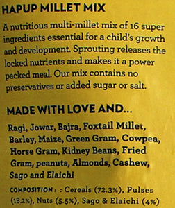Hapup (250gm Millet Mix + 80gm Millet MIx Sprouted) - Super Combo Pack of 2