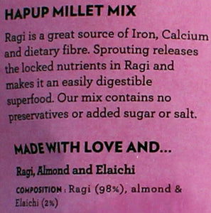 Hapup (250gm Ragi Mix Sprouted + 80gm Millet Mix) - Super Combo Pack of 2