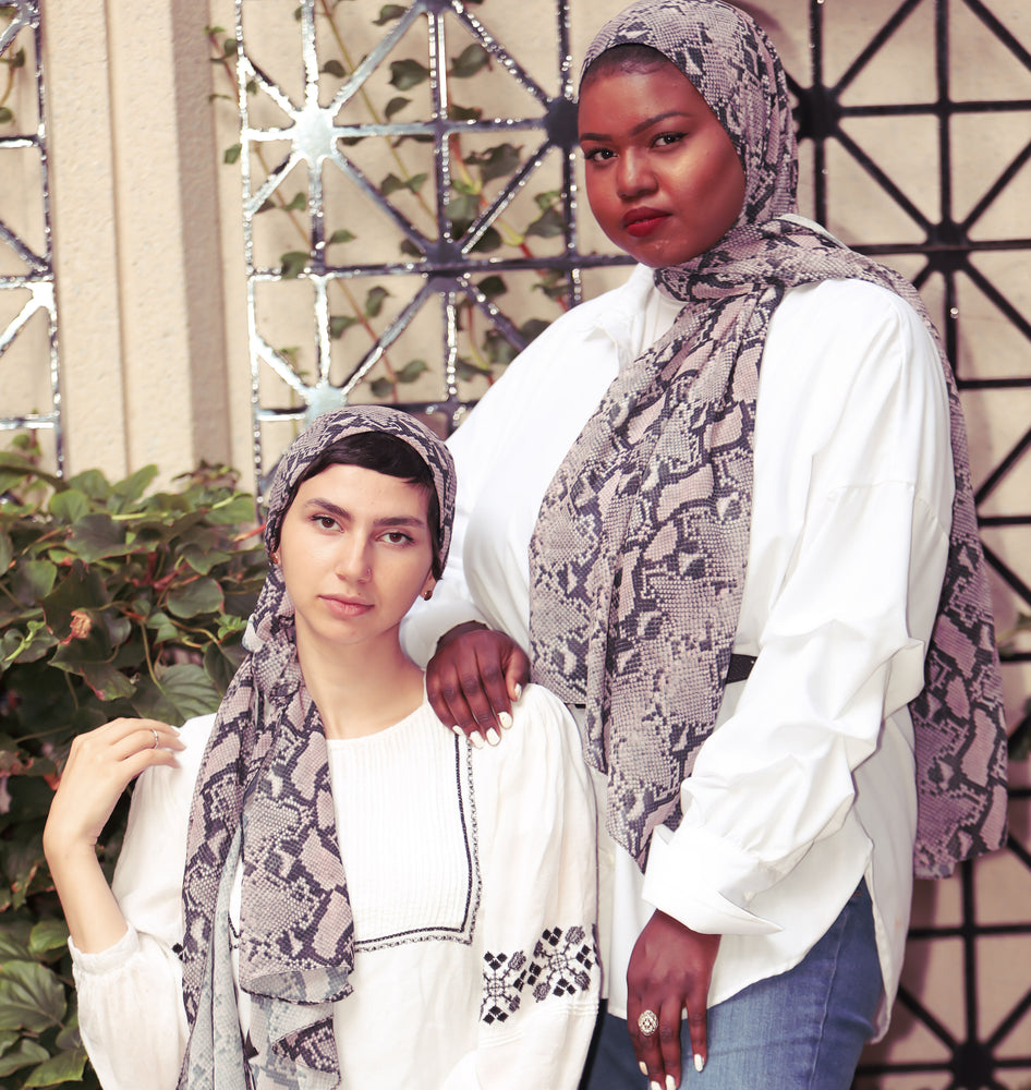 Python/ Snake Print Scarf - Modestia Collection is a Detroit scarf based brand with a curated for Detroiter's and to the eclectic style of scarf lovers around the globe.