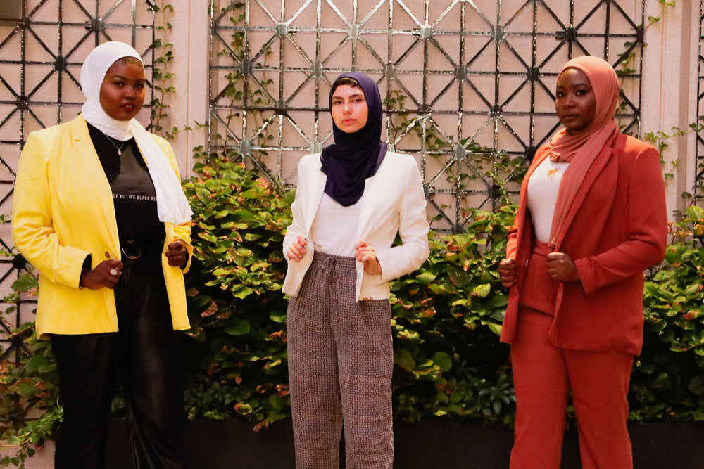 One Step Jersey Hijabs - Desert Rose - Modestia Collection is a Detroit scarf based brand with a curated for Detroiter's and to the eclectic style of scarf lovers around the globe.