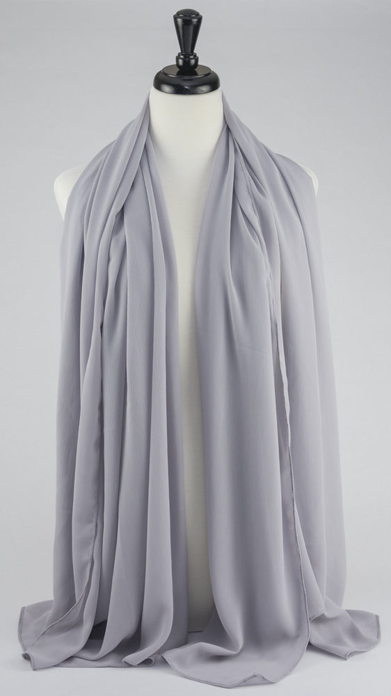 Textured Chiffon Lilac Gray - Modestia Collection hijabs scarves turbans head wraps hijab empowered female empowerment community global community