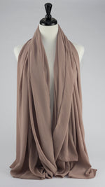 Chiffon Scarf-Sand (with a tint of pink)