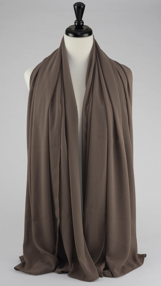 Textured Chiffon Taupe - Modestia Collection hijabs scarves turbans head wraps hijab empowered female empowerment community global community