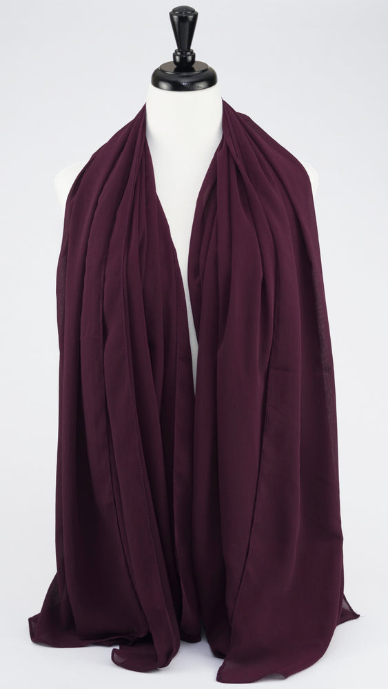 Chiffon - Vineyard Grape - Modestia Collection is a scarf brand with a higher purpose, representing the eclectic style of a diverse and inclusive community of scarf lovers.