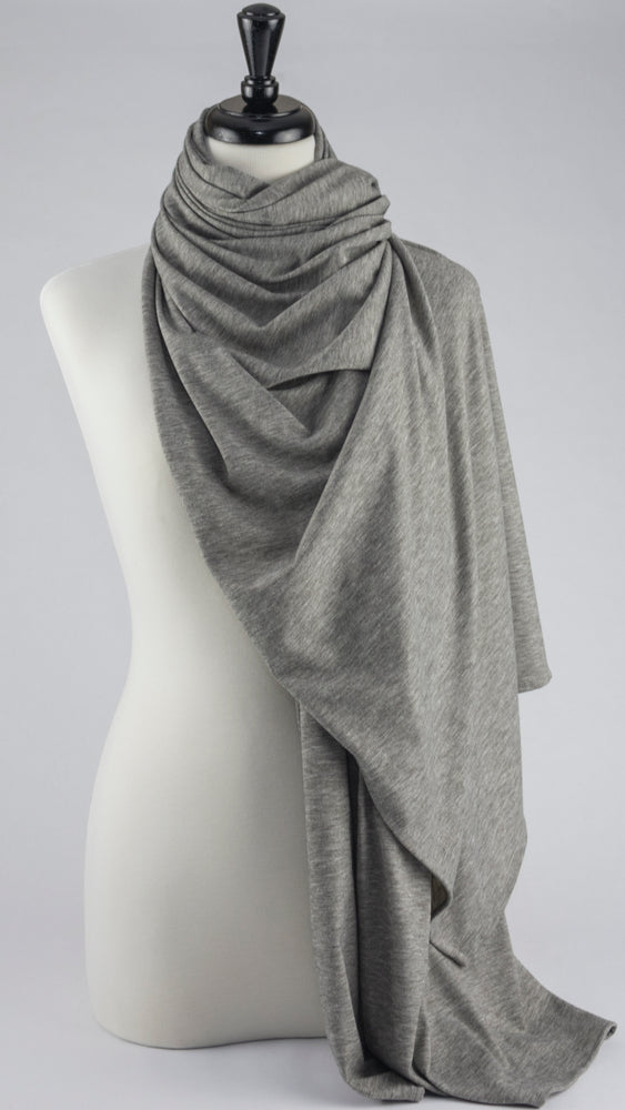 Jersey Heather Gray - Modestia Collection is a scarf brand with a higher purpose, representing the eclectic style of a diverse and inclusive community of scarf lovers.
