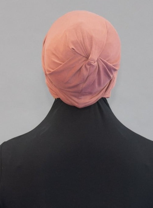 Criss Cross Tie-back Cap - Desert Rose - Modestia Collection is a Detroit scarf based brand with a curated for Detroiter's and to the eclectic style of scarf lovers around the globe.