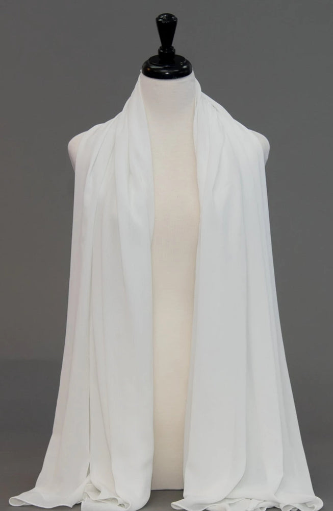 Chiffon Scarf -Whipped Cream