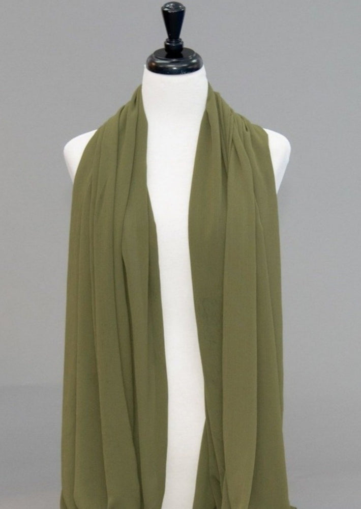 Textured Chiffon Olive - Modestia Collection is a scarf brand with a higher purpose, representing the eclectic style of a diverse and inclusive community of scarf lovers.