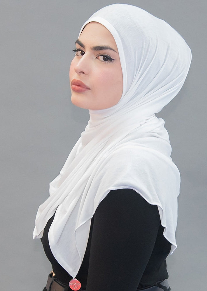 One Step Jersey Hijabs- White Avalanche