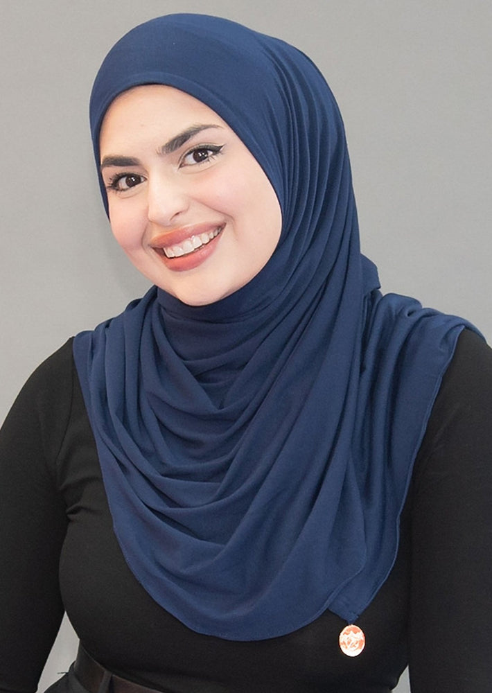 One Step Jersey Hijabs- Deep Sea Navy