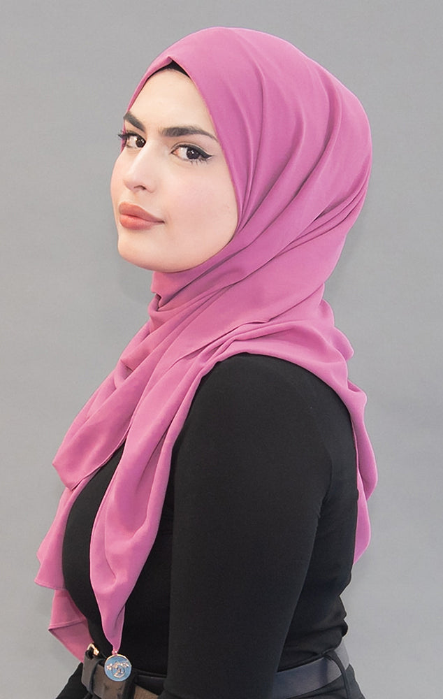 Limited Edition Gold Medallion Hijab / Scarf - Pink Lemonade ( Concentrated) - Modestia Collection is a Detroit scarf based brand with a curated for Detroiter's and to the eclectic style of scarf lovers around the globe.
