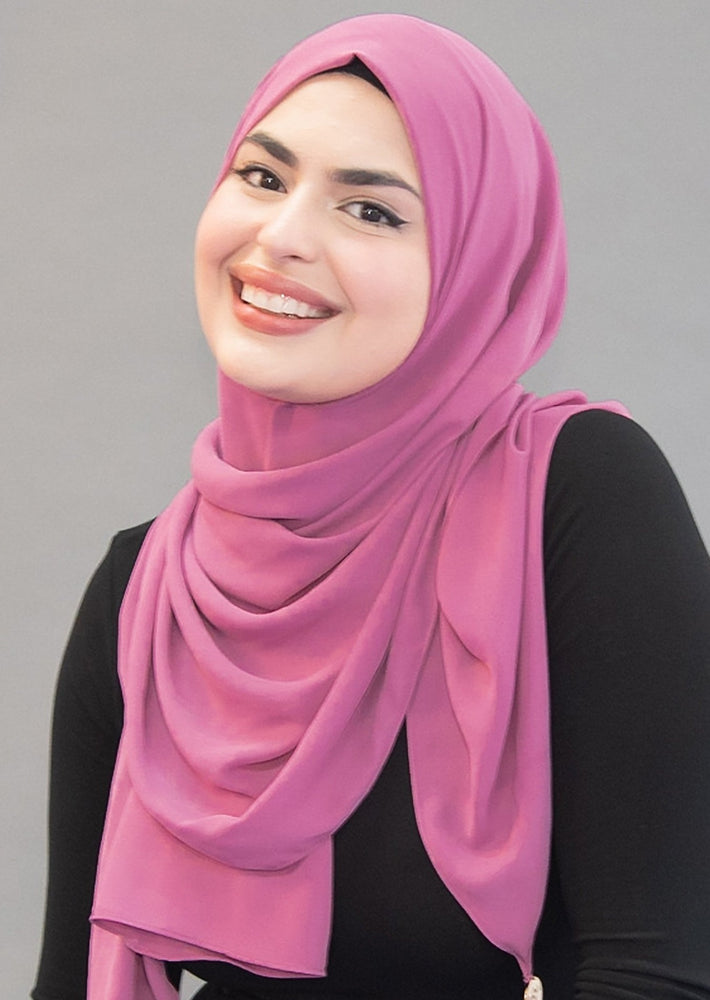 Limited Edition LUXE Chiffon Hijab / Scarf -  Pink Lemonade ( Concentrated)