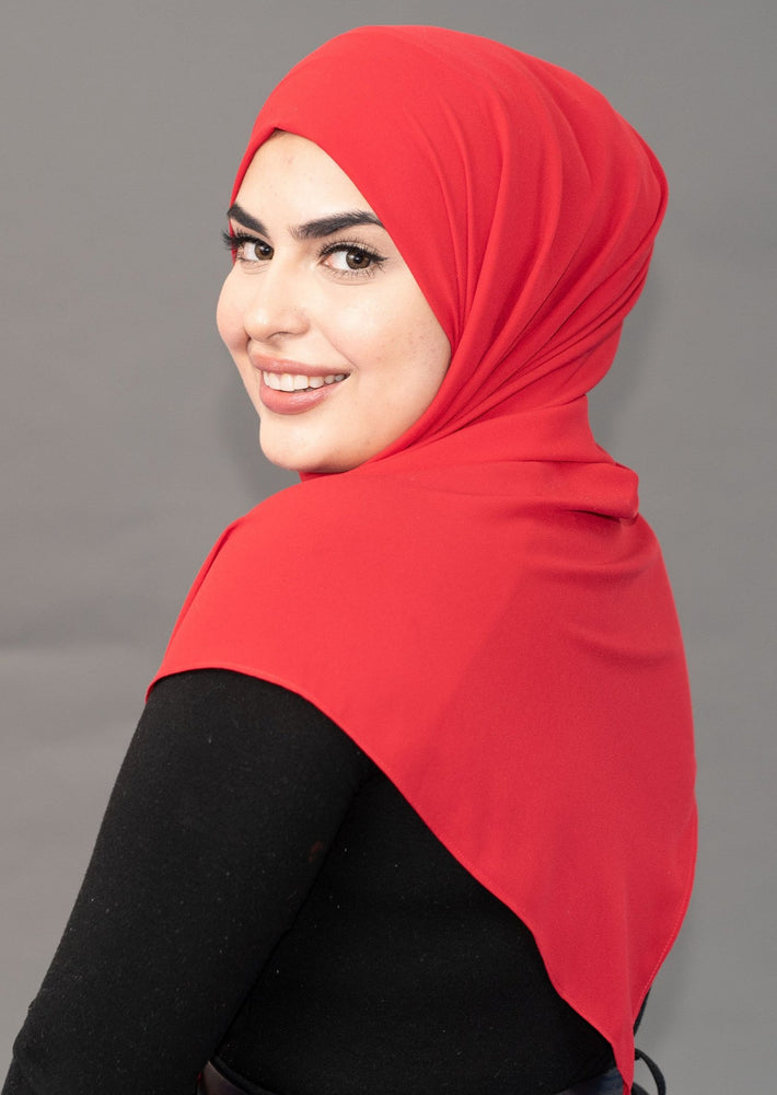 Limited Edition LUXE Chiffon Hijab / Scarf - Ferrari Red