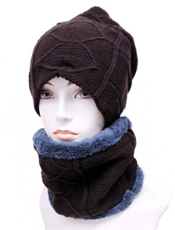 Hat & Neck Warmer Set - Modestia Collection is a Detroit scarf based brand with a curated for Detroiter's and to the eclectic style of scarf lovers around the globe.