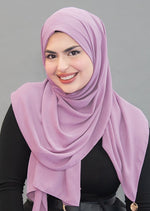 Limited Edition Gold Medallion Hijab / Scarf- Iris Mauve