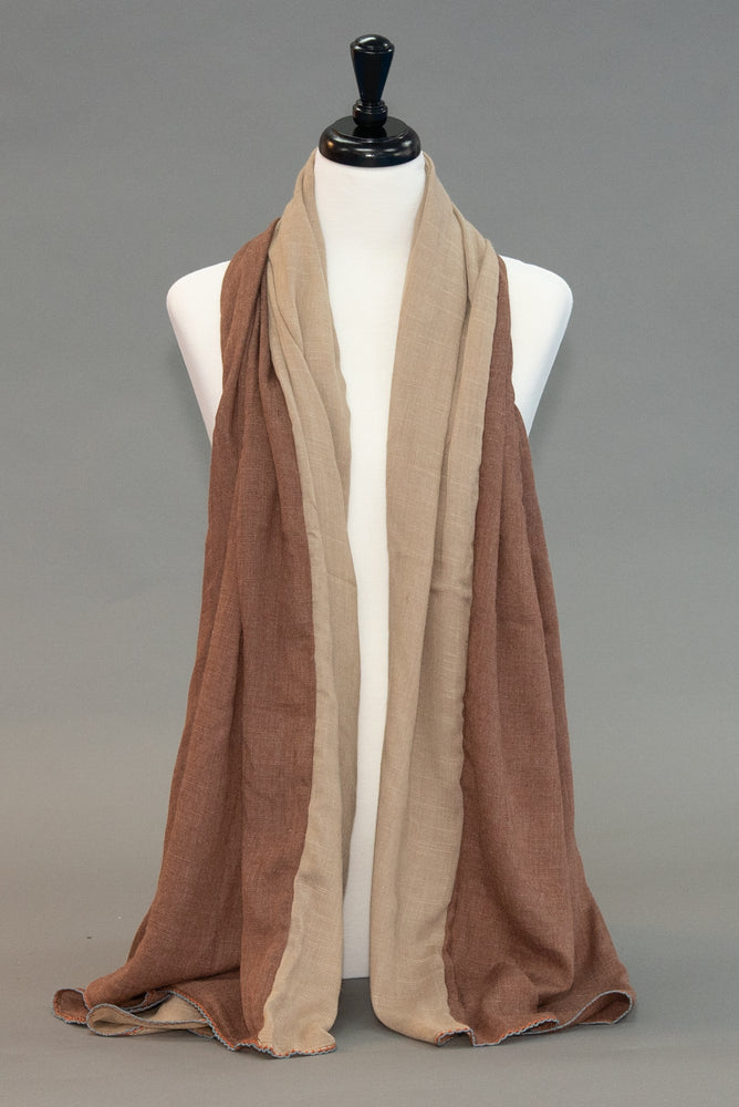 Color Block - Cinnamon Nugget - Modestia Collection is a Detroit scarf based brand with a curated for Detroiter's and to the eclectic style of scarf lovers around the globe.