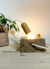 Load image into Gallery viewer, Cubo LED Lamp in Concrete