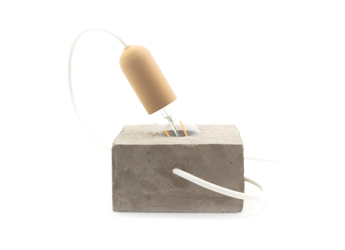 Cubo LED Lamp in Concrete