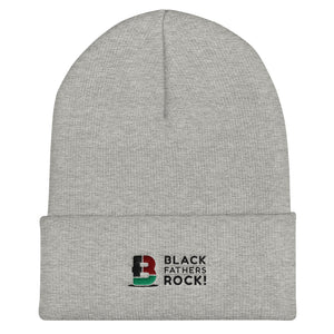 Black Fathers Rock! Embroidered Cuffed Beanie
