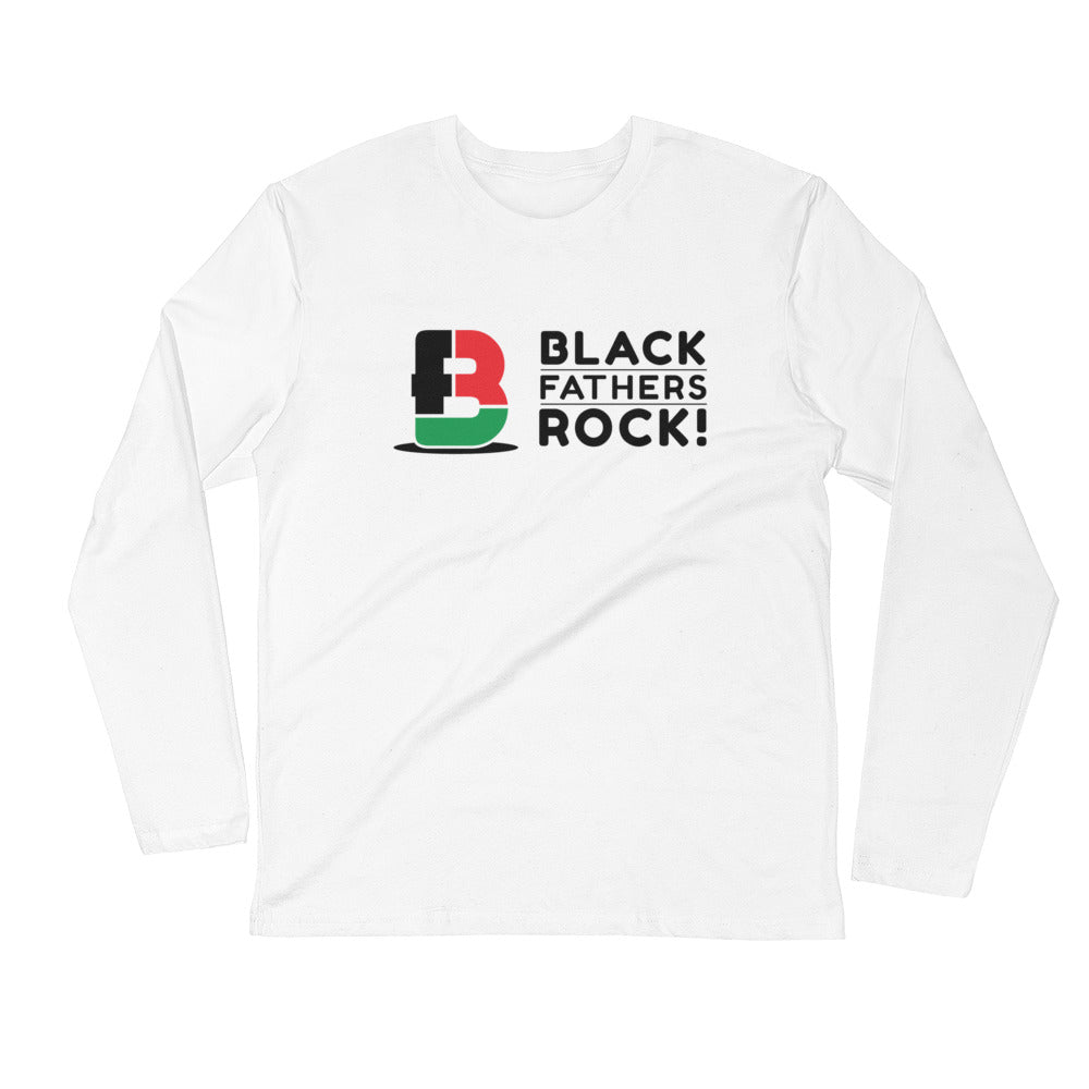 Black Fathers Rock! Unisex Long Sleeve Fitted Crew