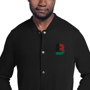 Black Fathers Rock! Embroidered Champion Bomber Jacket