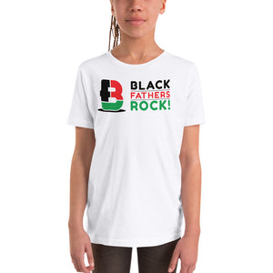 Tri-Colored Black Fathers Rock! Youth Short Sleeve T-Shirt