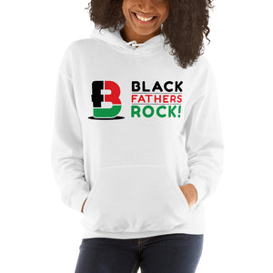 Tri-Colored Black Fathers Rock! Hooded Sweatshirt