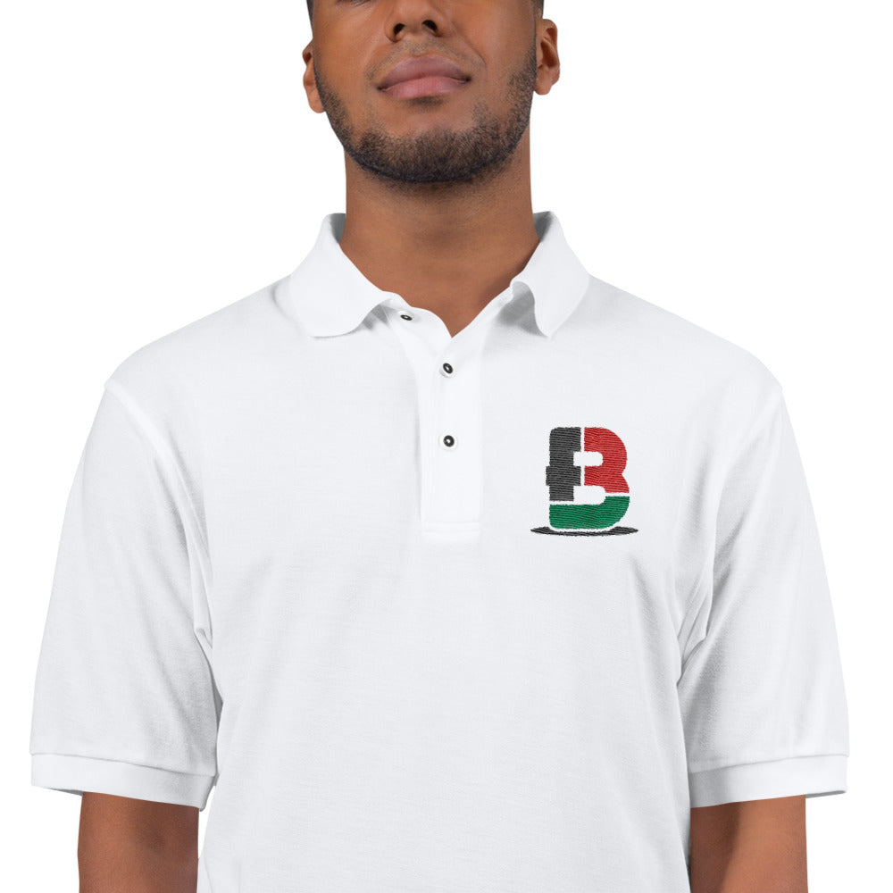 Black Fathers Rock! Embroidered Polo Shirt
