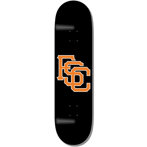 Black Club Logo Skateboard Deck