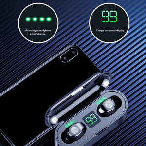 Bluetooth Earphones 5.0 TWS Mini Wireless Headset With Power Display And Charger