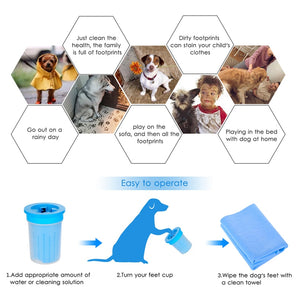 HOOPET Pet Cats Cleaner Dogs Foot Clean Cup For Dogs Cats Cleaning Tool Plastic Washing Brush Paw Washer Pet Accessories for Dog