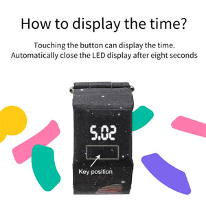 "Creative Trend LED Digital ""Newspaper"" Watch"