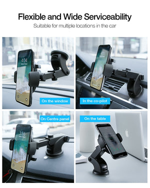 RAXFLY Car Phone Holder Windshield Mount For Samsung S9 Plus S8 S7 360 Rotation Phone Car Holder in Car For iPhone Huawei Stand