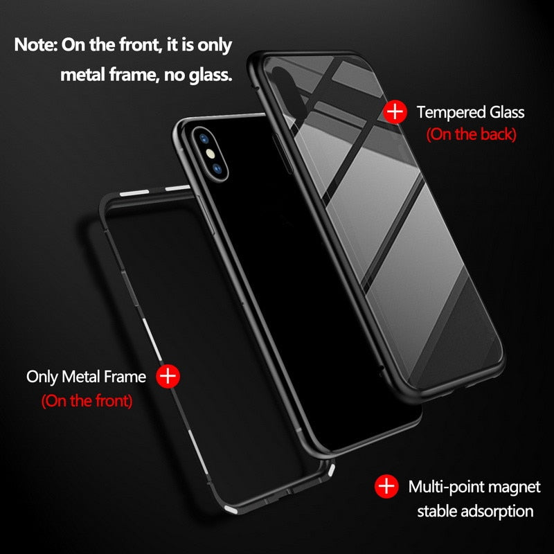 GETIHU Magnetic Metal Case For Samsung Galaxy S9 S8 S10 Plus Note 8 9 Plus Edge Coque + Tempered Glass Phone Cases Magnet Cover
