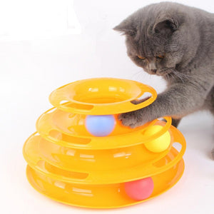 Interactive Cat Tower of Tracks Ball Toy for Cats
