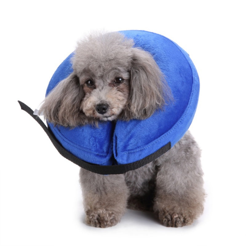 Copy of Dog Cat Protection Cover Wound Healing Cone Collar Inflatable Pet Medical Supplies Anti-bite PVC Comfortable Zipper E-Collar