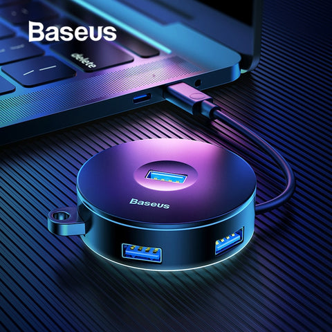 Baseus Multi USB 3.0 / Type C HUB to USB3.0 + 3 USB2.0 for Macbook Pro HUB Adapter for Huawei P20 Computer Hard Drive Accessory