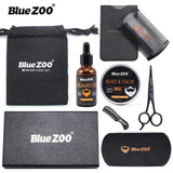 Mens Beard Set With Beard Oil, Moisturizing Wax Balm, Comb And Styling Scissors