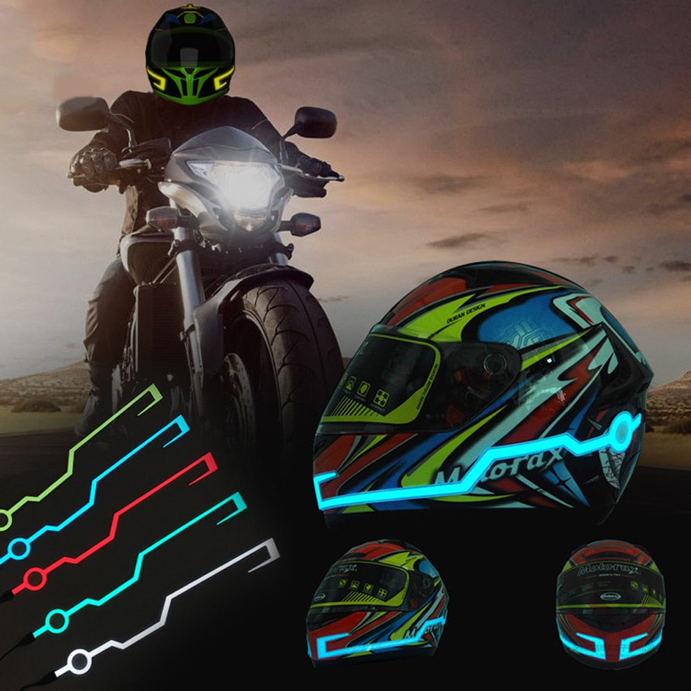 Waterproof Helmet Motorcycle Light Riding Signal StripsWith Flashing LED