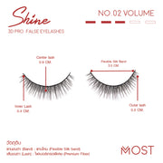 SHINE 3D PRO FALSE FALSE EYELASHES NO.02
