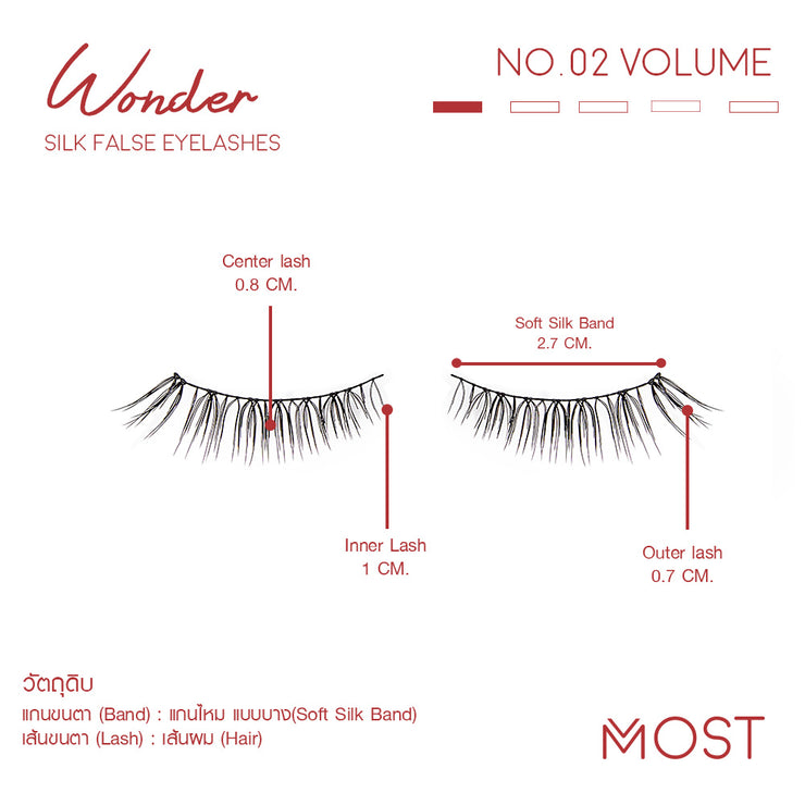 WONDER SILK FALSE EYELASHES NO.02