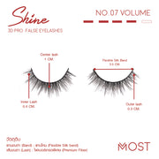 SHINE 3D PRO FALSE FALSE EYELASHES NO.07