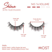 SHINE 3D PRO FALSE FALSE EYELASHES NO.16