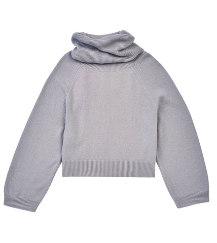 ROLL NECK TIE BACK PULLOVER