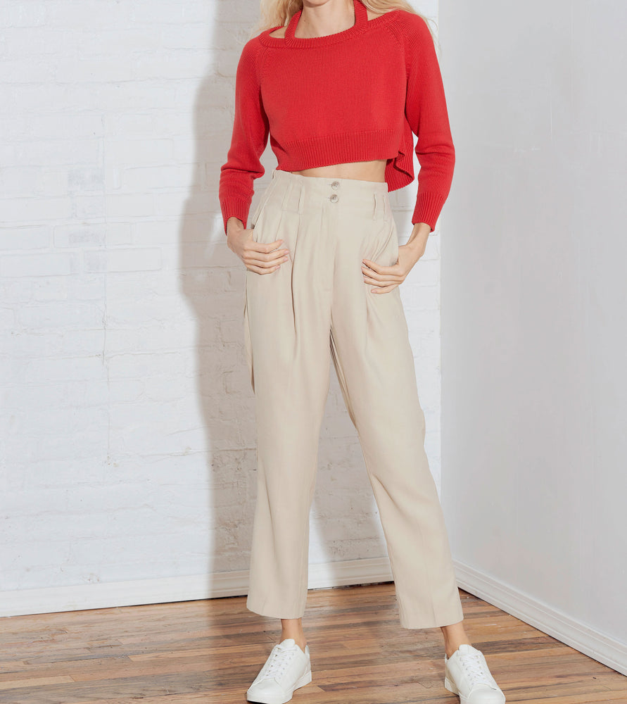 CROP HALTER OFF-SHOULDER