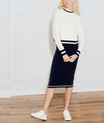 CROP MOCK NECK PULLOVER