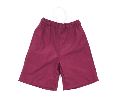Maroon Boy School Shorts