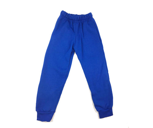 Royal Blue Fleece Track Pants