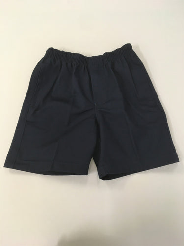 Primary School Full Elastic Navy Shorts